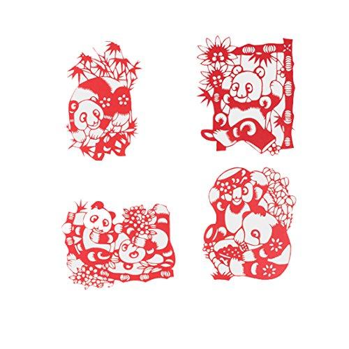 Handmade ArtPaper Chinese New Year Paper Cutting for Celebrations Festive Holidays Wedding Birthday Christmas - Panda