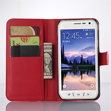 (Covers For Samsung Litchi Grain Flip Leather Wallet Case Stand Galaxy S6 Active/S5 Active/S4 Active/S5 Mini/S4 Mini (Color : Red, Compatible Models : Galaxy S4 Mini))