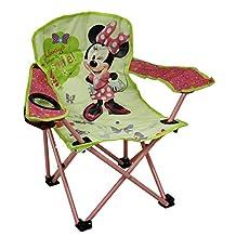 Disney Kids Green & Pink Minnie Mouse Bowtique Folding Camp Chair
