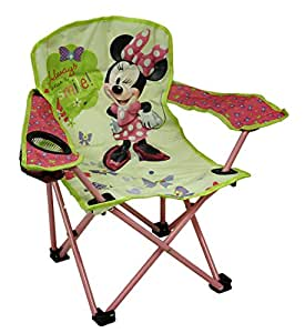 Amazon Com Disney Metal Camping Chairs Kids Green Amp Pink