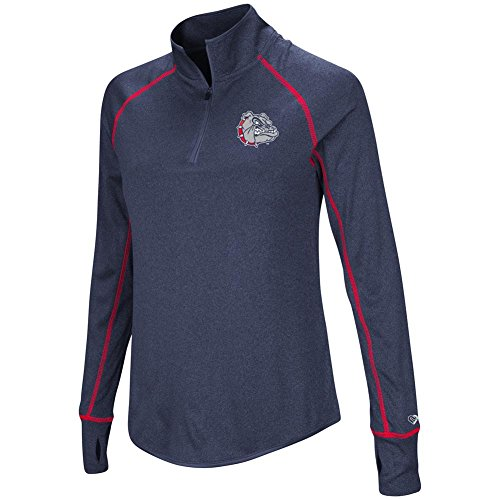 Gonzaga Bulldogs Jacket (Ladies Gonzaga University Bulldogs Jacket Lightweight Quarter Zip Shirt (X-Large))