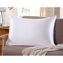 Sunflower Beauty Facial Silk Pillowcase for Hair and Skin Standard/Queen 1pc (white)