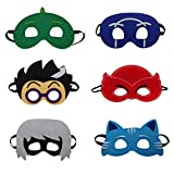 (US) Yostra Kids Masks Cartoon Hero Favors For Dress Up Party Costume Set Pack Of 6