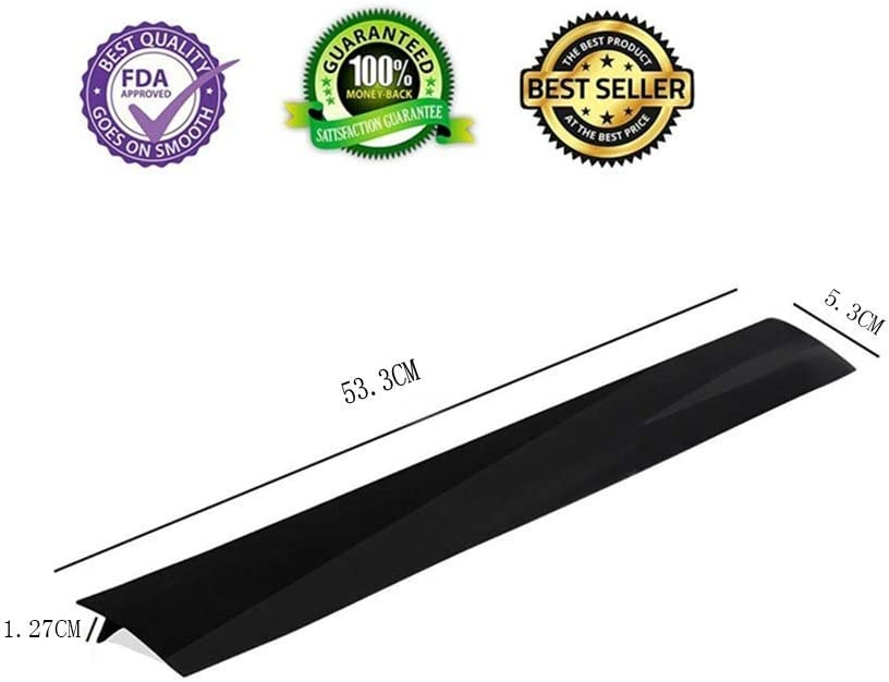 Oven Silicone Kitchen Stove Counter Gap Cover Long /& Wide Gap Filler Seals Spills Between Counters Heat-Resistant and Easy Clean 2 Pack 53CM Black Washing Machines Dryer Stovetops Washer