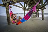Cheap FMS Extra Large Brazilian Mayan Hammock – Portable Single or Double Hammock – Handmade with 100% Soft Cotton (Tropical Multicolor) by Ravenox