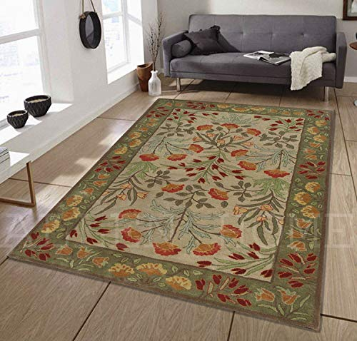 Allen Home Wool Rug ANNY Multi Modern Tufted Persian Traditional Wool Rug Carpet (8'X10')