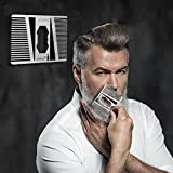 Stainless Steel Beard Comb with Bottle Opener - EDC Metal Wallet Comb for Trimming or Shaping Mustache and Beard Hair by IKEPOD