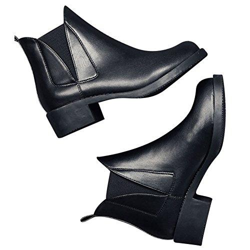 Kivors Bottines Classique Bottes en Cuir Femme