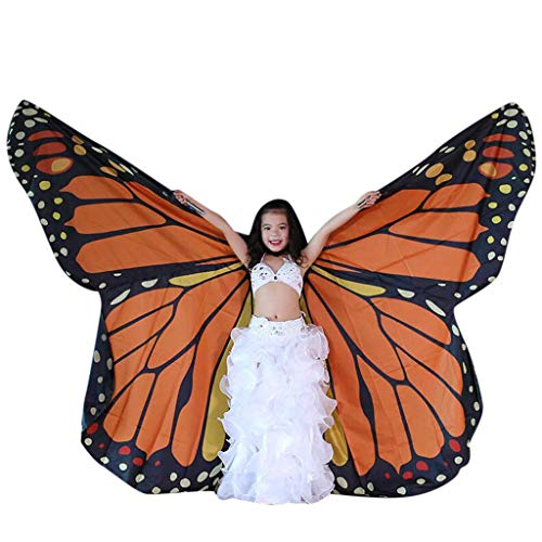 FEDULK Children Belly Dance Isis Wings Belly Dance Costume Performance Clothing Angel Wings(E) ()