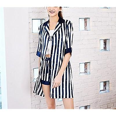 LEIT Sous-vêtements pyjamas femmes deux ensembles de soie service d'accueil