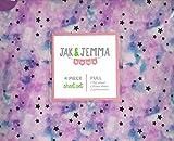 tie dye sheet full - Jak and Jemma Tie Dye Stars Unicorn Colored FULL 4-Piece Sheet Set
