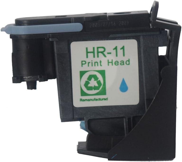 oguan® – Pack de 4 cabezales para repuesto C4810 A HP 11 C4811 A C4812 A cabezal de impresión C4813 A para uso con HP Business Inkjet 2200 2250 2280 2600 2800