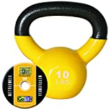GOFGFKBELL10 – GOFIT GF-KBELL10 KETTELBELL amp; IRON CORE TRAINING DVD (10 LBS YELLOW)