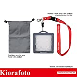 Kiorafoto 80*80mm Professional Portable White Balance Calibration Filter with Neck Strap for Canon Nikon Sony Fujifilm Fujinon Olympus Pentax Tamron Sigma Camera Lens up to 82mm Thread Size