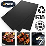 Oven Liner - Set of 3 Large Non-Stick Mat Liners for Gas, Electric, Convection, Toaster Ovens and Easy to Clean, 15.8 x 19.7 inch.