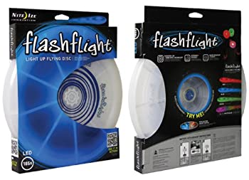 Nite Ize Flashflight Led Light Up Flying Disc, Glow In The Dark For Night Games, 185g, Blue 4