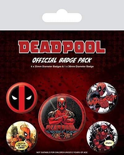 Badge Pack Insignia de Deadpool Pack, Multicolor, 10 x 12.5 x 1.3 cm: Amazon.es: Hogar