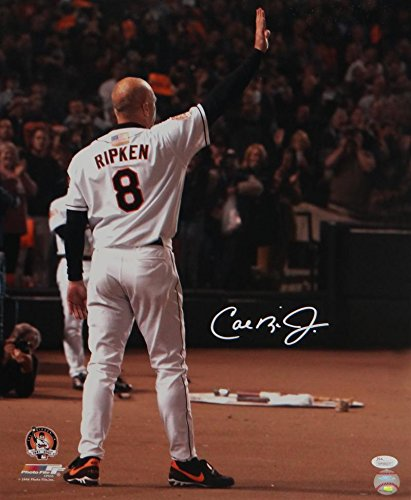Cal Last Ripken Jr Game - Cal Ripken Jr. Signed Picture - 16x20 Last Game PF W Auth *White - JSA Certified - Autographed MLB Photos