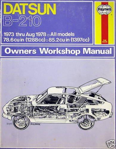 78 datsun haynes repair manual - 2