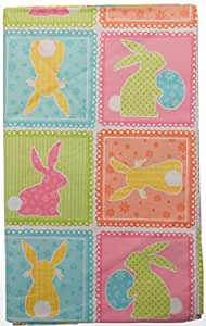 Amazon Com Easter Pastel Patchwork Print With Bunny