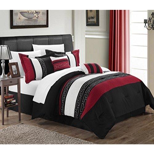Chic Home Carlton 6-Piece Comforter Set, Queen Size, Black