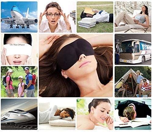 Masque de sommeil 3D Naturel de sommeil Masque de Ombre /à Paupi/ères Couverture Ombre Yeux Patch Femmes Hommes Doux Portable Voyage Eyepatch