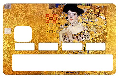 THELITTLESTICKER Credit Card Sticker, Adele Bloch-Bauer by Gustav Klimt - Personalize Your Credit Card with These Removable Stickers