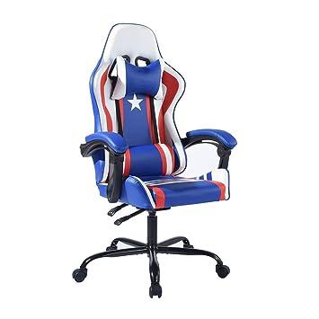 Aingoo Racing Bürostuhl PU Gaming Leder Ergonomischer Stuhl CxdeBo