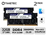 Timetec Hynix IC 32GB KIT (2x16GB) Compatible for Apple 2019 iMac 27-inch w/Retina 5K Display, Late 2018 Mac Mini DDR4 2666MHz PC4-21300 2Rx8 CL19 1.2V SODIMM Memory RAM Upgrade (32GB KIT (2x16GB))