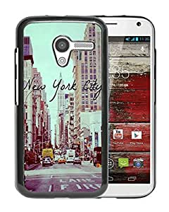 Beautiful Designed Cover Case For Motorola Moto X With Vintage New York City Black Phone Case