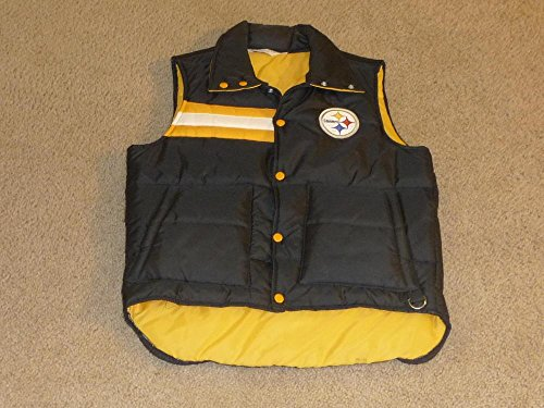Vintage 1970'S NFL Stahl Urban PITTSBURGH STEELERS FOOTBALL Puffer Vest.