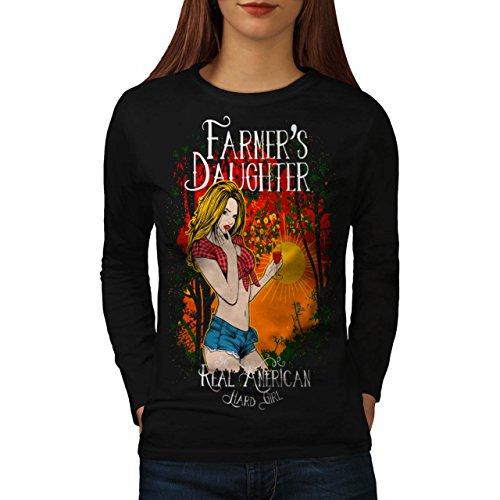 Farmer Daughter Cute Women NEW M Long Sleeve T-shirt | Wellcoda (Daisy Duke Fancy Dress)