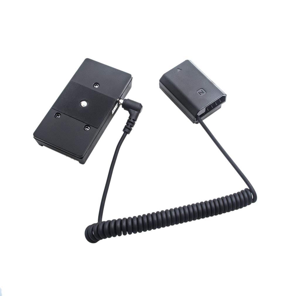 Nrpfell Adaptador De Corriente Np-Fz100 Bater/ía Simulada De Decodificaci/ón Completa F970 Cable De Resorte Adaptador De Placa De Montaje De Bater/ía?para Series