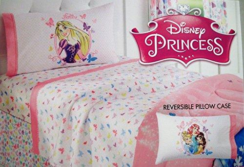 Disney Princess Twin Sheet Set, Pink with Butterflies