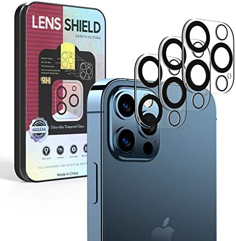 [3 pack] Hymat Camera Lens Protector for iPhone 12 pro (6.1″),9H Clear Tempered Glass HD Camera Cover Protectors,Easy Installation, Anti-Scratch, Anti-Flash Reflect for Apple 2020