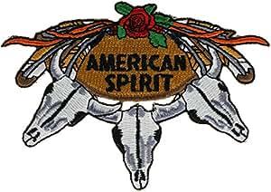 American Spirit vaca calavera 3,5pulgadas bordado parche novp184