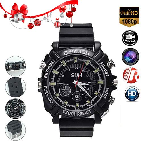 ist Watch - Hidden Micro HD Cameras -16GB Cameras Multifunctional Smart Waterproof Watch IR Night Vision with Built-in Rechargeable for Indoor Outdoor ()