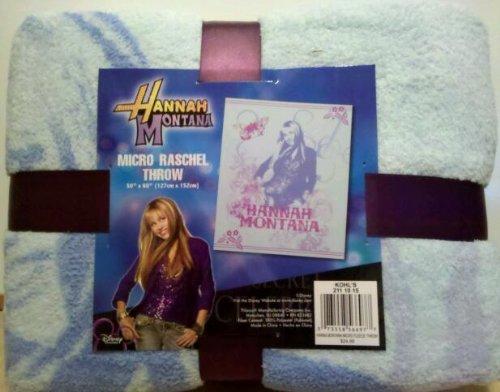 Hannah Montana Micro Raschel Throw (Montana Hannah Blanket)