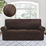 Best Couch Slipcovers - RHF Velvet-Sofa Slipcover, Stretch Couch Covers for 3 Review