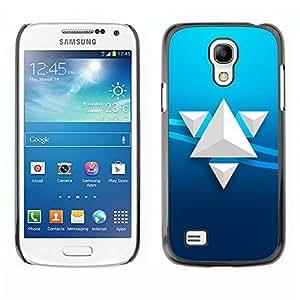 TECHCASE**Cubierta de la caja de protección la piel dura para el ** Samsung Galaxy S4 Mini i9190 MINI VERSION! ** Triangle Art