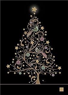 Luxury Christmas Cards (BA0428) - White Tree - Pack of 5: Amazon ...