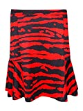 Michael Kors Women's Animal Print Jersey Skirt (10, Cherry)