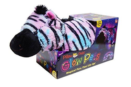 """Pillow Pets Zebra Glow Pet 18"""""""