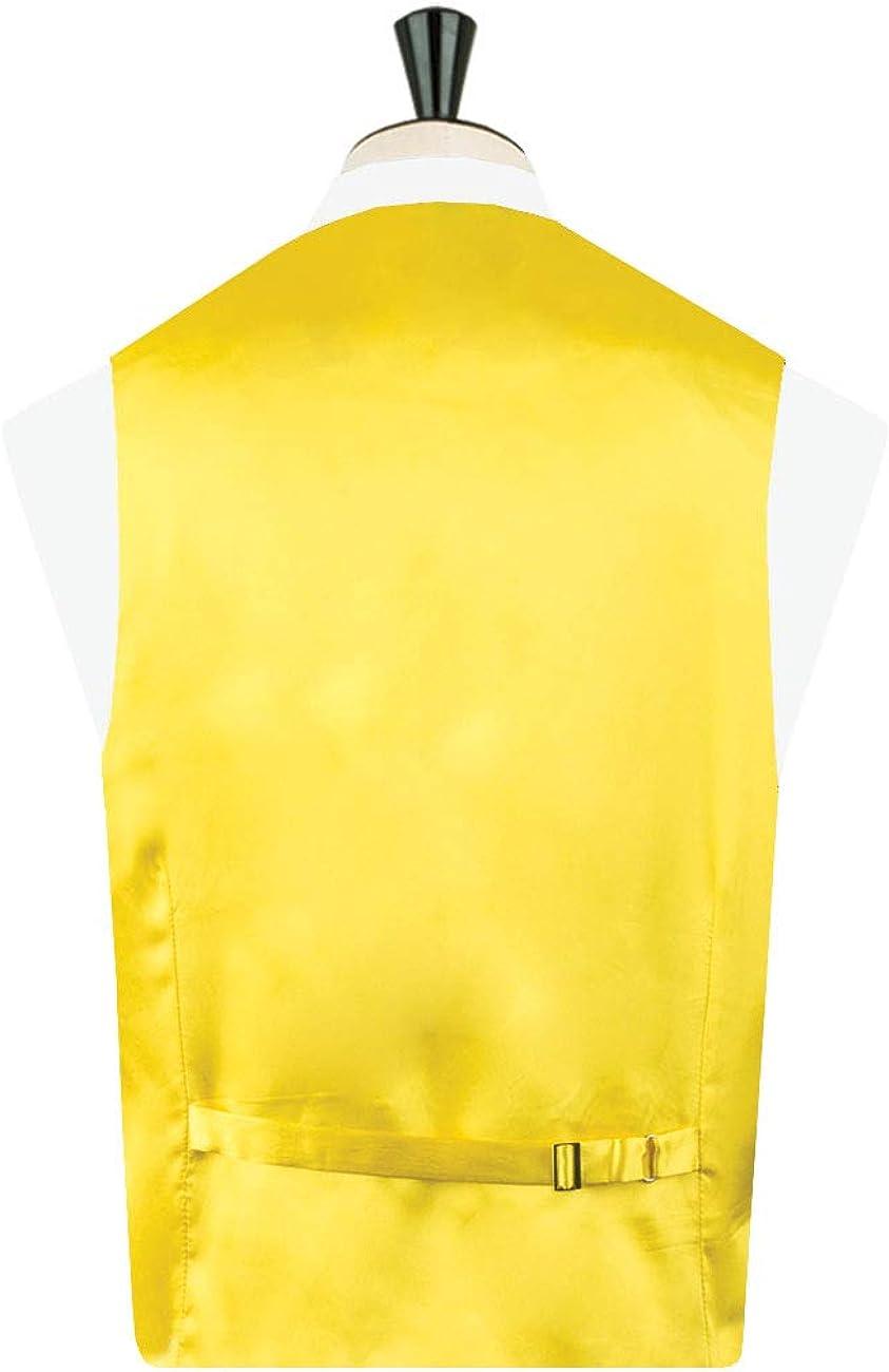 Dobell Mens Yellow Waistcoat Regular Fit Dupion 5 Button