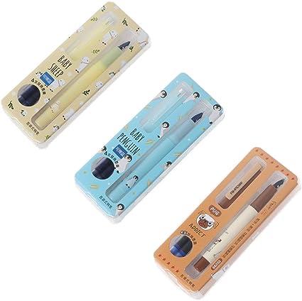 Tuska Fashion - Pluma estilográfica con caja de regalo, punta mediana, tinta azul, escritura suave: Amazon.es: Oficina y papelería