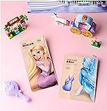 The Face Shop Disney Cinderella's Glass Foot Mask n Tangled Rapunzel Hair Mask pack (Foot + Hair Pack (2pcs))