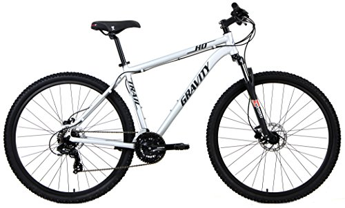 Gravity HD Trail 27.5 Hydraulic Disc Brake Full Shimano 21 Speed Front Suspension Mountain Bike (Matt Ti Gray, 15″ – fits most 5'5″ to 5'7″)