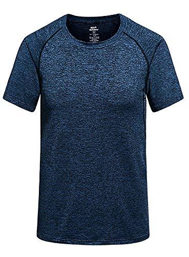 - One-Explorer Men's Quick Dry Athletic T-Shirt Crew Neck Slim Fit Moisture Wicking Tee