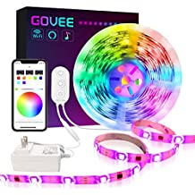 DreamColor LED Strip Lights, Govee 16.4ft WiFi Wireless Smart Light Strip Works with Alexa Google Assistant App Control for Room Bedroom Kitchen Outdoors Music Sync Waterproof (Not Support 5G WiFi)