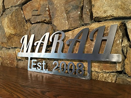 Metal Family Name and Year Established Wall Hanging